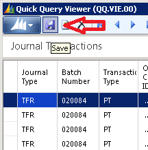 save quick query viewer