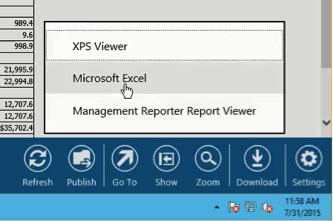 Export to Excel From Management Reporter