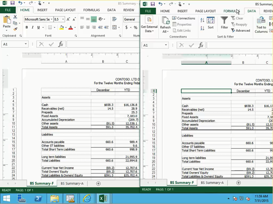 Management Reporter Output to Excel